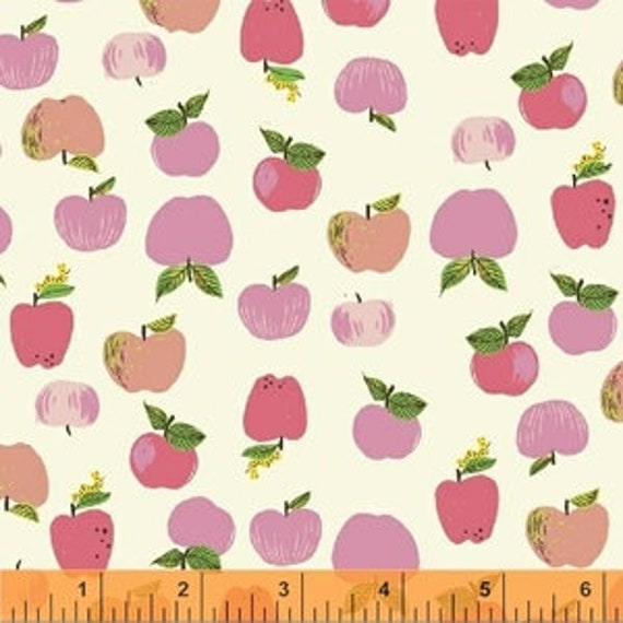 Heather Ross Kinder for Windham Fabrics - Fat Quarter Apples in Pink