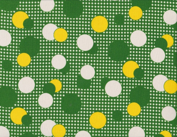 Daiwabo Junko Matsuda fat quarter -- Modern & Bright Collection-- Dots in Green and Gold