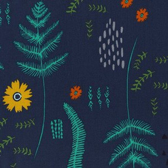 Mesa Fern Book in Navy by Alexia Marcell Abegg for Cotton and Steel