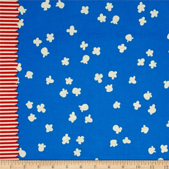 Penny Arcade --Popcorn in Sky Blue by Kimberly Kight for Cotton and Steel