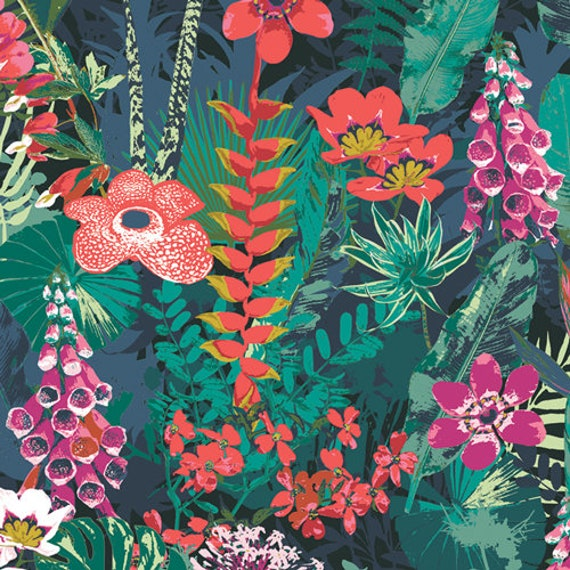 Art Gallery Lush Rainforest in Rayon - Purchase in 25cm Increments