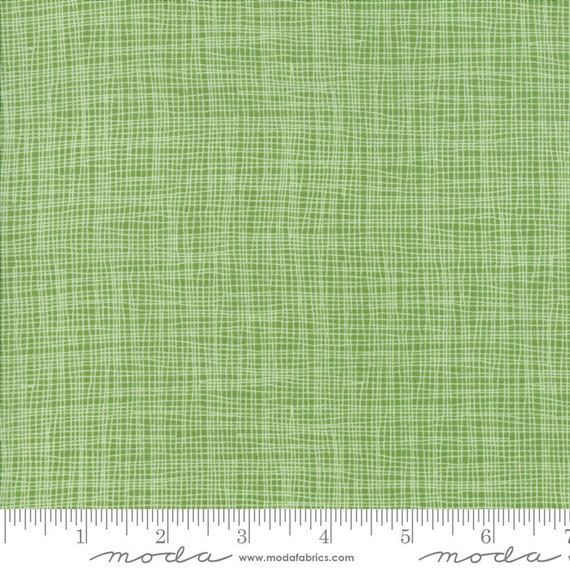 Day in Paris. -- Grid in Grass (1686 14) by Zen Chic for Moda -- Fat Quarter