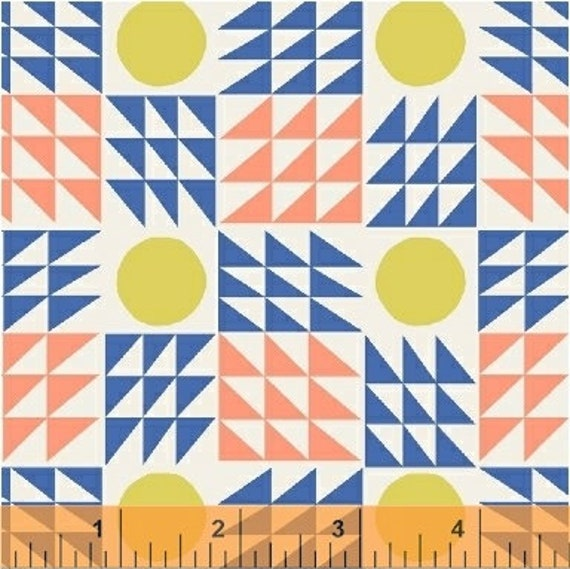 Penelope by Annabel Wrigley for Windham Fabrics - Neo Geo in Blue
