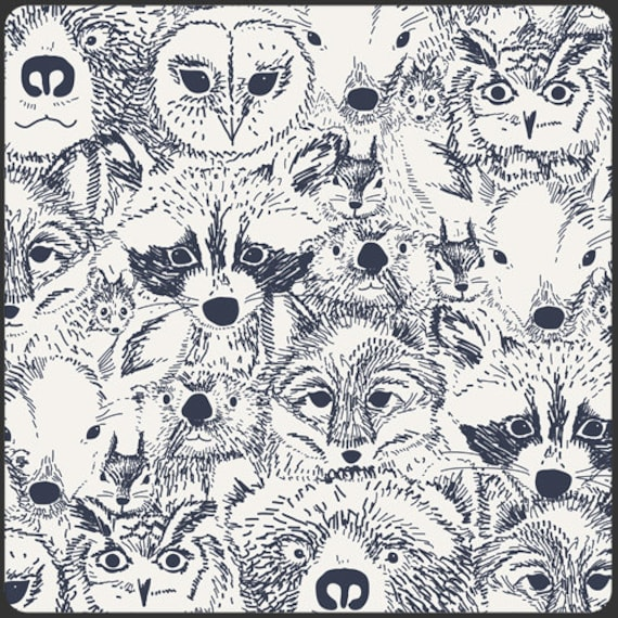Indian Summer by Sarah Watson for Art Gallery Fabrics-  Fat Quarter of Menagerie in Onyx