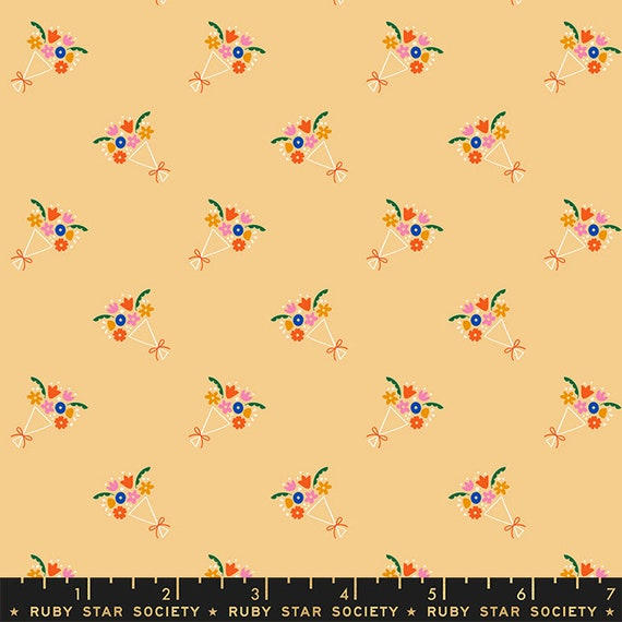 Food Group Bouquet in Butternut (RS5041 12) by Ruby Star Society -- Fat Quarter