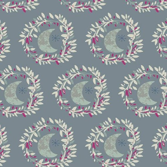 Mystical Land by Maureen Cracknell for Art Gallery Fabrics - Lunar Illusion in Crystal