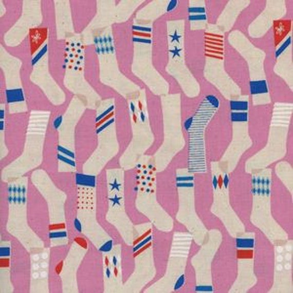 Kicks -- Socks in Pink by Melody Miller for Cotton and Steel