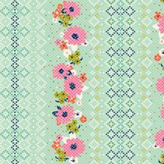 Fat Quarter Mustang Rose Border in Multi by Melody Miller for Cotton and Steel