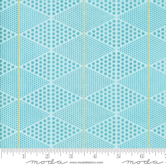 Day in Paris. -- Metallic DIamonds in Teal (1684 16M) by Zen Chic for Moda -- Fat Quarter