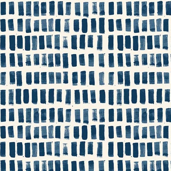 Home by Sarah Golden for Andover Fabrics - Fat Quarter of Brush Strokes in Cyan -- Cotton