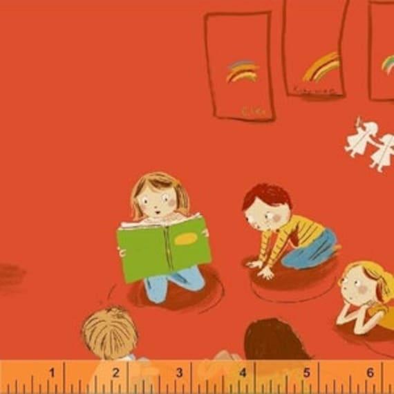 Heather Ross Kinder for Windham Fabrics - Fat Quarter Paper Kindergarten in Red