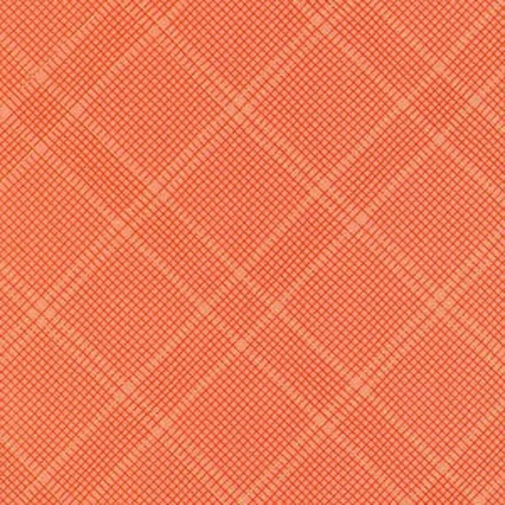 Carkai by Carolyn Friedlander -Grid Diamond in Creamsicle Metallic - Fat Quarter