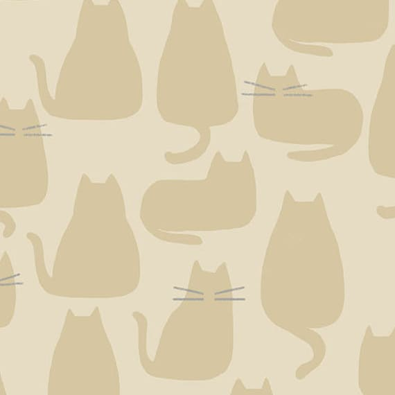 Whiskers and Dash by Sarah Golden for Andover Fabrics - Fat Quarter of Whiskers in Maple (A-9168-N)