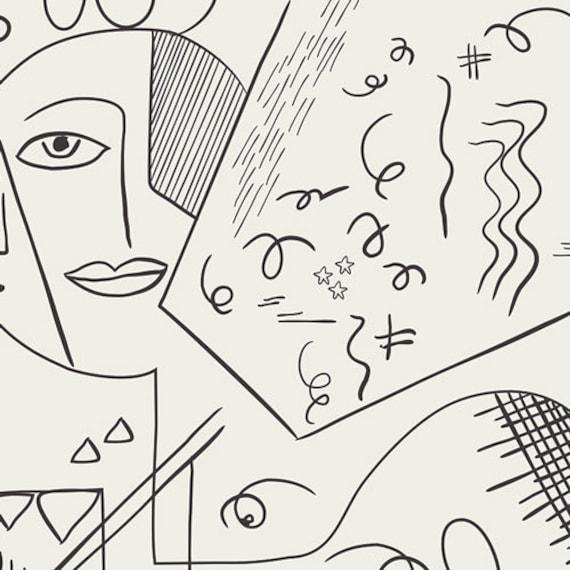 Cubist Perception by Pat Bravo for Art Gallery Studio-  Fat Quarter