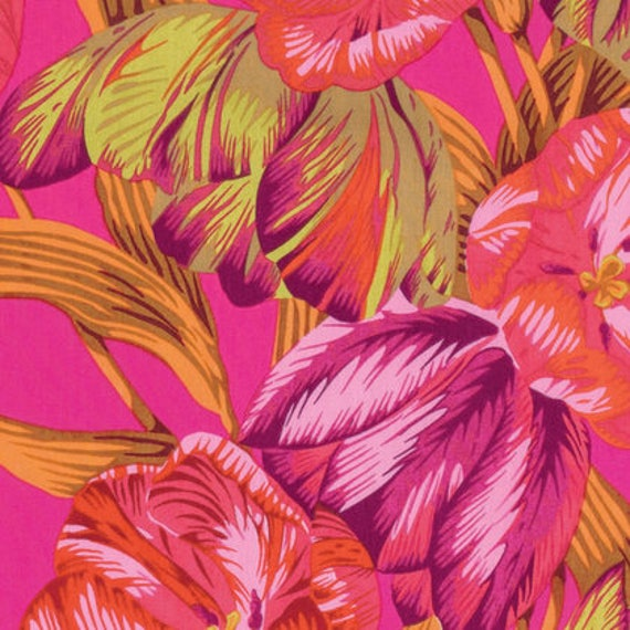Kaffe Fassett Collective  -- Fat Quarter of Philip Jacobs Tulip Extravaganza in Pink