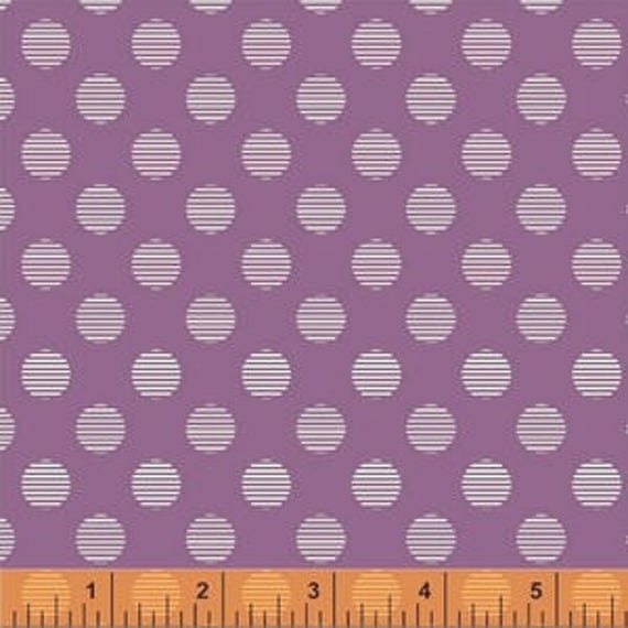 Hello Jane by Allison Harris for Windham Fabrics - Circles in Lilac - Fat Quarter