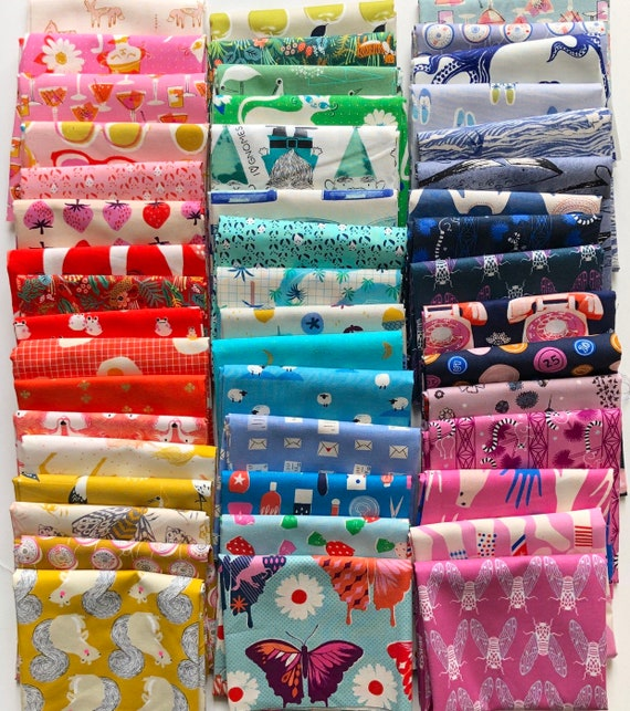 Fat 16th of Cotton and Steel fabrics similar to the ones shown in photo (48 in total)