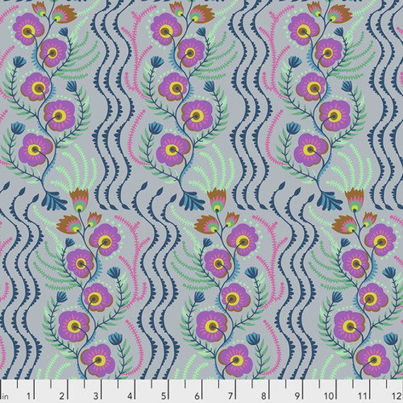 Tambourine by Anna Horner for Free Spirit Fabrics - Messages in Lilac