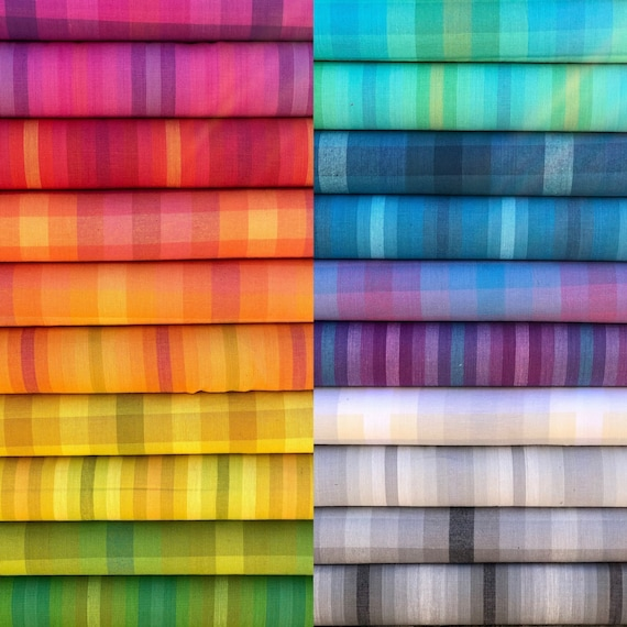 Kaleidoscope Stripes and Plaids fat quarter bundle by Alison Glass for Andover Fabrics Fat Quarter Bundle of all 20
