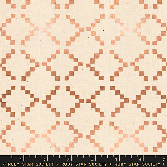 Golden Hour -- Tile in Copper Metallic (RS4020-24M) by Ruby Star Society for Moda -- Fat Quarter