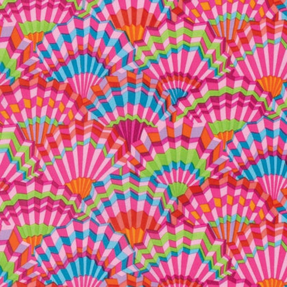 Kaffe Fassett Collective  -- Fat Quarter of Paper Fans in Pink