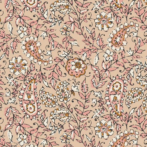 Kismet by Sharon Holland for Art Gallery Studio-  Fat Quarter of India Ink Parchment
