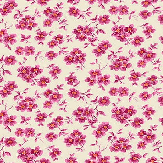 Washington Depot by Denyse Schmidt for Free Spirit Fabrics - Wallflower in Wild Rose