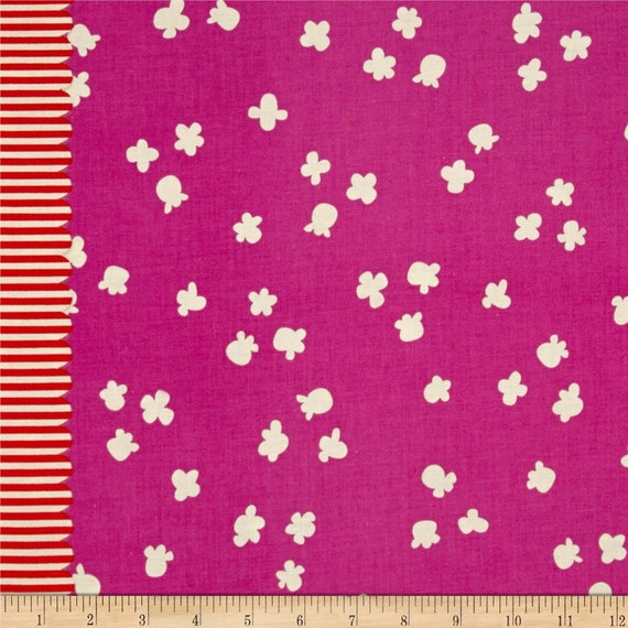 Penny Arcade --Popcorn in Plum by Kimberly Kight for Cotton and Steel