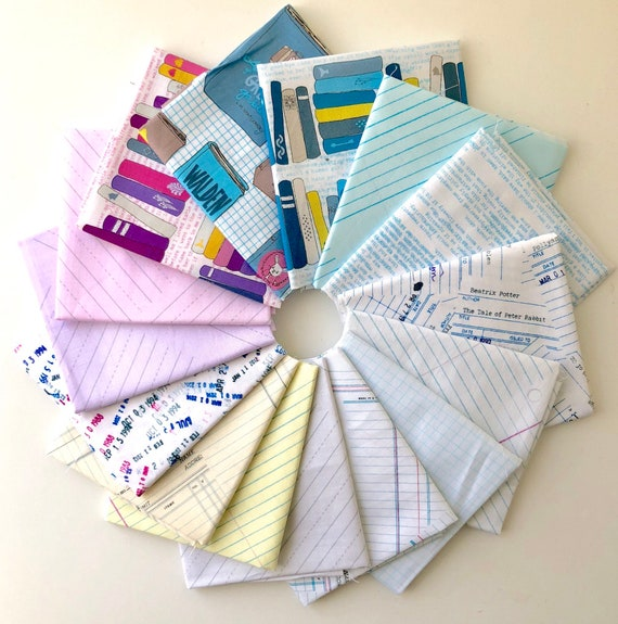 Literary/Jot  by Heather Givans for Windham Fabrics  - Fat Quarter Bundle of 15