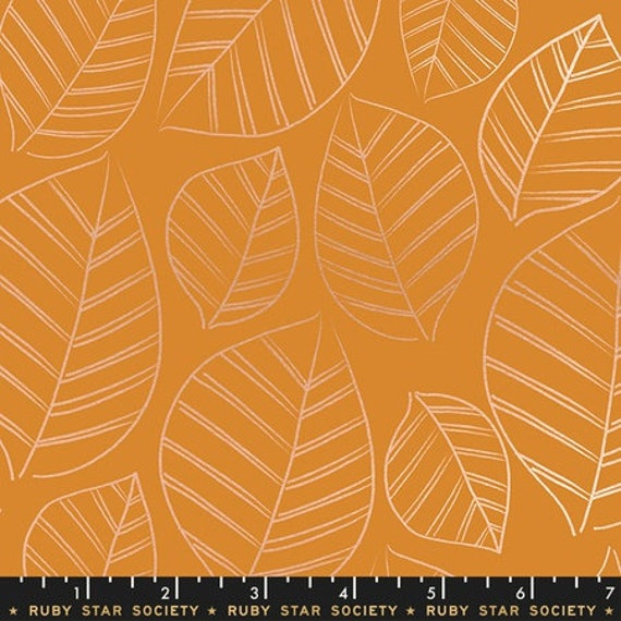 Aviary -- Leafy in Caramel (RS5003-14M) by Ruby Star Society for Moda -- Fat Quarter