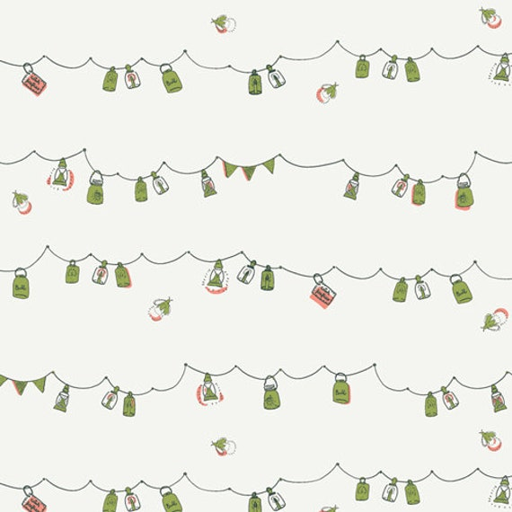 Dew and Moss by Alexandra Bordallo for Art Gallery Fabrics - Fat Quarter of Playful Mini Bunting