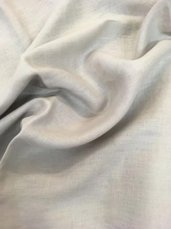 Rossini Linen in Chalk - Purchase in 50cm Increments