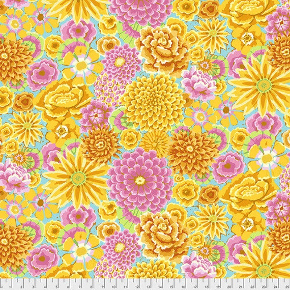 Kaffe Fassett Collective Fall 2018 -- Fat Quarter of Kaffe Fassett Enchanted in Yellow