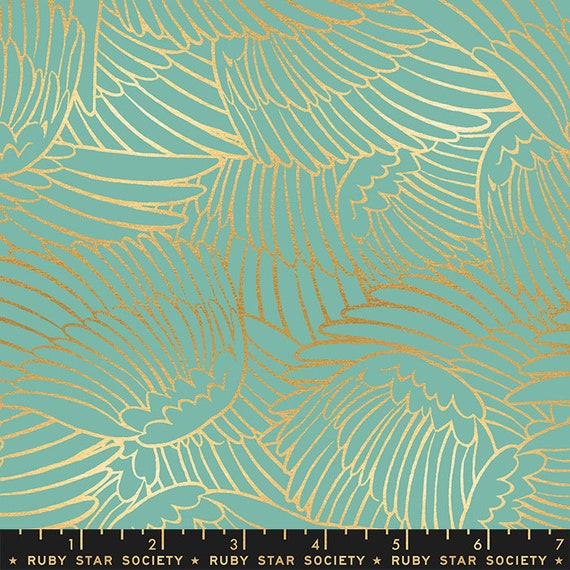 Florida Shade Wild Wings in Water RS2026 14M by Sarah Watts -Ruby Star Society - Fat Quarter