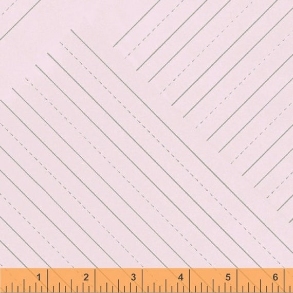 Jot by Heather Givans for Windham Fabrics - Penmanship Paper in Peony - Fat Quarter