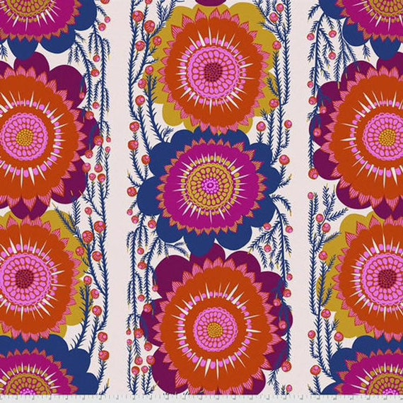 Anna Maria Horner's Optimistic in Cream from the Bright Eyes Collection - Wide Back 108 inches - Sold in 25cm increments