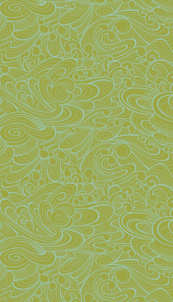 Fat Quarter Making Waves in Olive - Tula Pink's True Colors 2015 for Free Spirit Fabrics