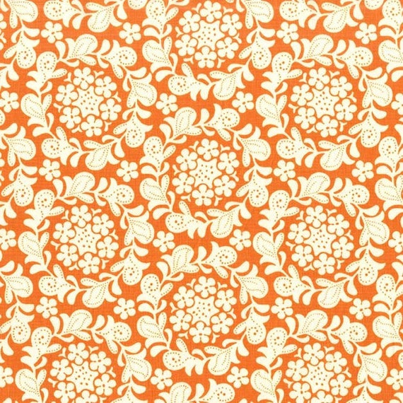 Strawberry Moon bySandi Henderson for Michael Miller - Petite Henna Garden in Orange - Fat Quarter