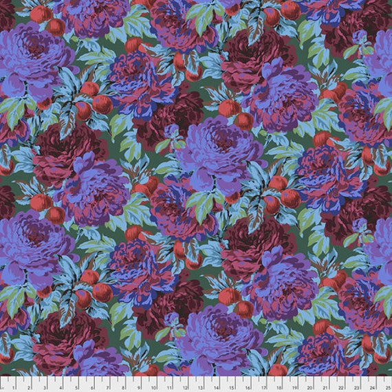 Kaffe Fassett Collective February 2020 -- Fat Quarter of Philip Jacobs Luscious in Dark