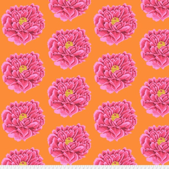 Kaffe Fassett Full Bloom in Pink -- Wide Back 108 inches - 25 cm  increment