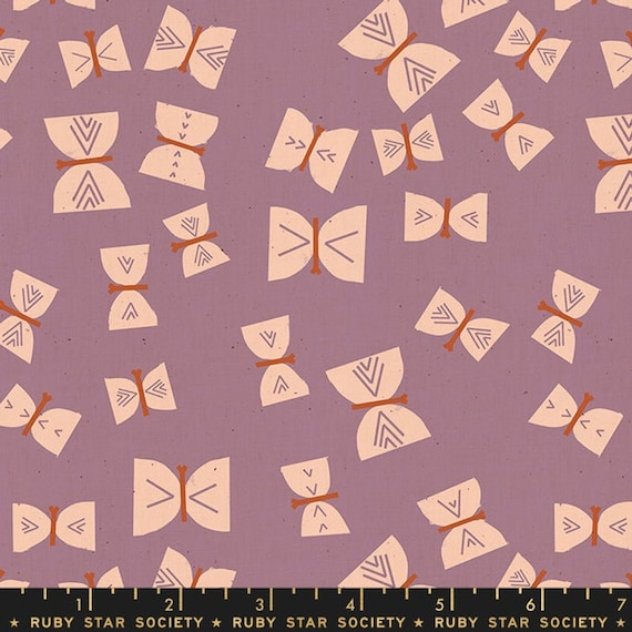 Add It Up and Alma by Alexia Marcelle Abegg -- Ruby Star Society Fabric, RS4002-14 Fat Quarter of Alma Butterflies Lilac