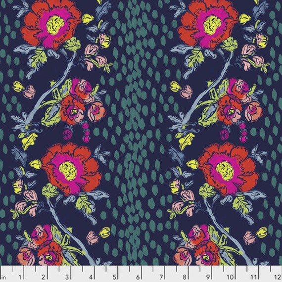 Flower Shop by Courtney Cerruti for Anna Maria Horner Conservatory 4 with Free Spirit Fabrics - Fat Quarter of Peony Path in Morning