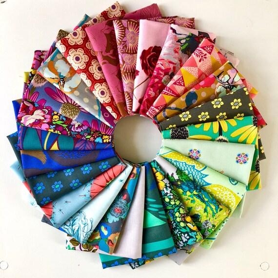 Rainbow Fat Quarter Bundle of Anna Maria Horner Fabrics -- 24 in total
