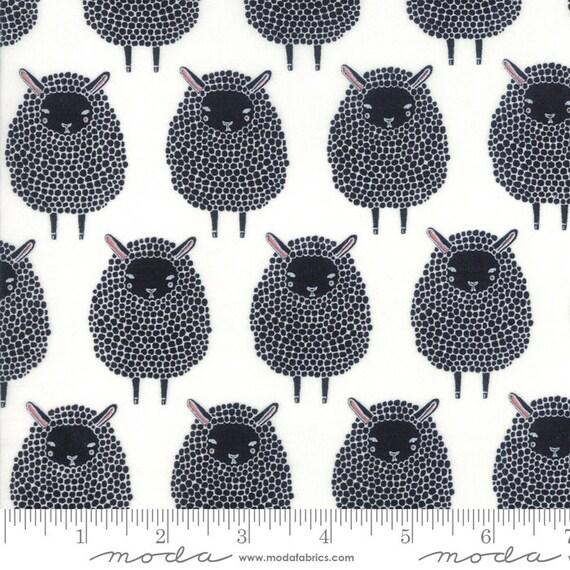 Farm Charm -- Black Sheep in Cloud (48291 11) by Gingiber for Moda -- Fat Quarter