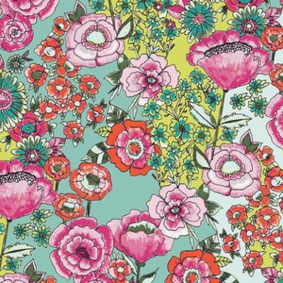 Wild Bloom by Bari J. Ackerman for Art Gallery Fabrics - Flower Shower in Intensef - Fat Quarter