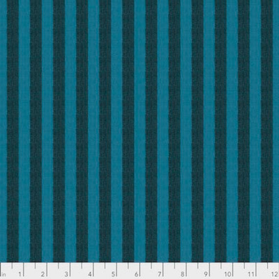 Kaffe Fassett Shot Cotton Stripes -  Fat Quarter of Mallard in Narrow Shot Cotton Stripe