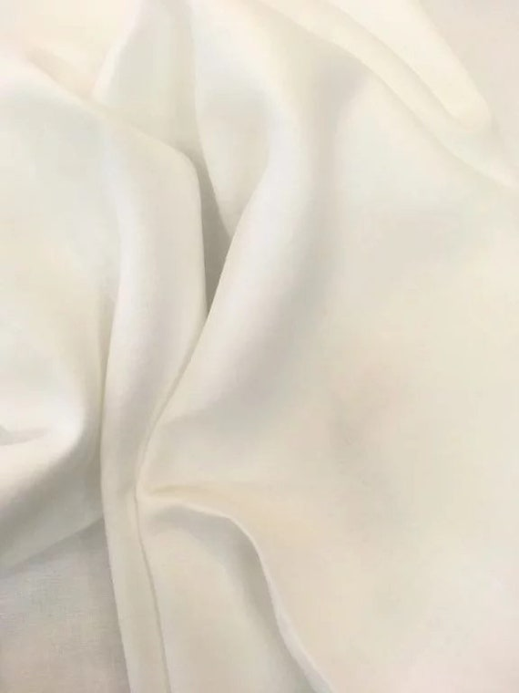 Rossini Linen in White - Purchase in 50cm Increments