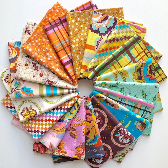 New Vintage by Kathy Doughty for Free Spirit Fabrics - Fat quarter bundle of all 18 prints