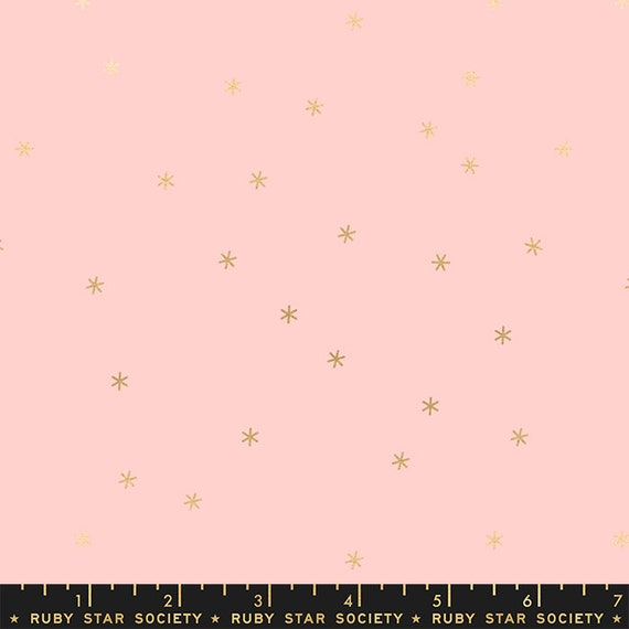 Spark in Metallic Pale Pink (RS000541M) by Ruby Star Society for Moda (Clementine Collection) -- Fat Quarter