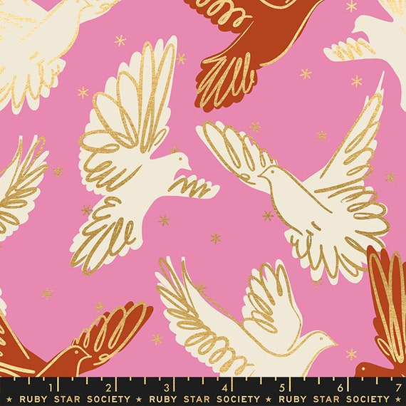 Rise Fly in Kiss RS0013 12M by Melody Miller - Ruby Star Society - Fat Quarter